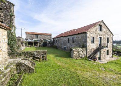 Exterior de la Casa rural A Canteira en Vimienzo, A coruña Galicia
